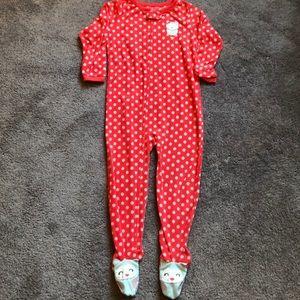 Carter's footed fleece owl pajamas